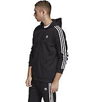 adidas Originals 3-Stripes FZ - Kapuzenjacke - Herren, Black