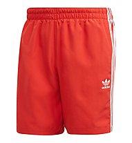 adidas Originals 3-Stripes Swim - costume - uomo, Red