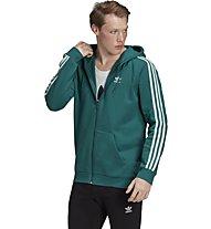 adidas Originals 3Stripes - felpa con cappuccio - uomo, Green/White