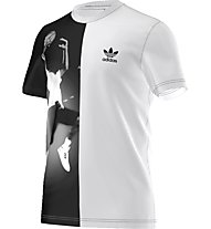 Adidas Originals Ball Photo Tee Herren T-Shirt Fitness Kurzarm, White/Black
