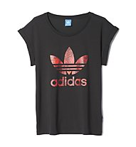 Adidas Originals Boyfriend Roll-Up T-Shirt Damen, Black