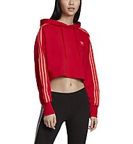 adidas Originals Cropperd - felpa con cappuccio - donna, Red