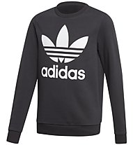 adidas Originals Fleece Crew - felpa - bambino, Black