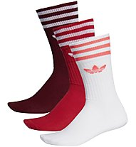 adidas Originals Solid Crew Sock 3 Pack - calzini fitness, White/Red/Dark Red