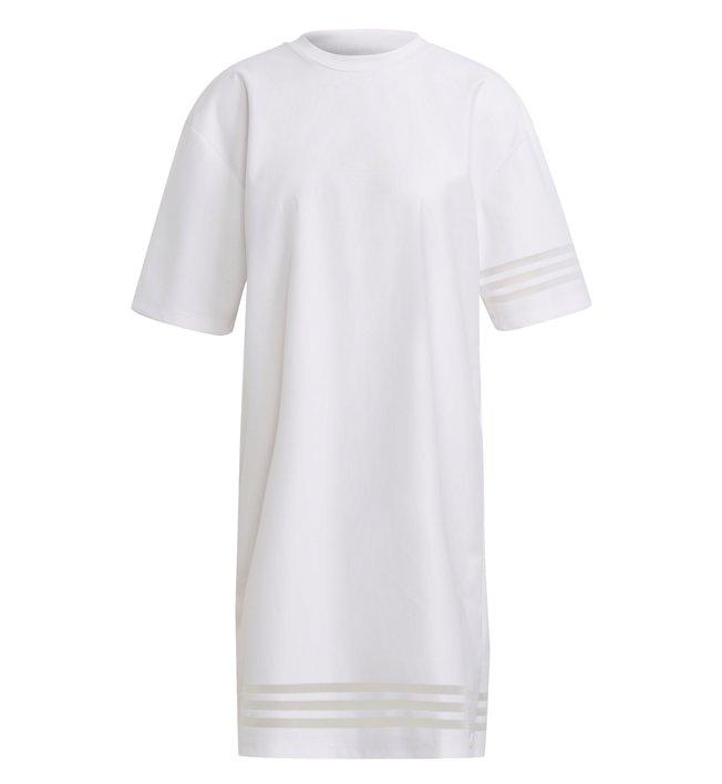 adidas Originals Tee - Kleid/Oversize Shirt - Damen, White