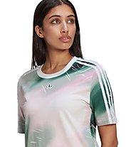 adidas Originals Tee - vestito - donna, White/Green/Pink