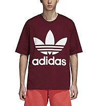 adidas Originals Trefoil Oversized T-shirt - T-shirt fitness - uomo, Dark Red