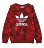 Adidas Originals Trefoil Sweater Felpa fitness donna, Red