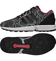 Adidas Originals Zx Flux Sneaker Damen, Core Black/Black/Tomato