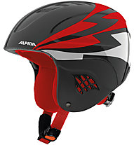 Alpina Carat - Skihelm - Kinder, Black/Red/White