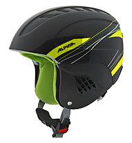 Alpina Carat - casco sci, Black/Light Green