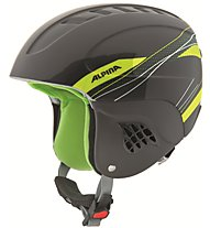 Alpina Carat - Skihelm - Kinder, Black/Light Green