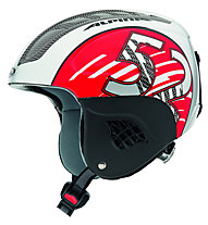 Alpina Carat - Skihelm - Kinder, Red/Silver