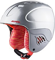 Alpina Carat - Skihelm - Kinder, Silver/Fucsia