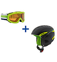 Alpina Carat + Ruby - set casco da sci + maschera da sci - bambino