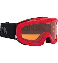 Alpina Ruby - Skibrille - Kinder, Red