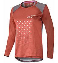 Alpinestars Stella Alps 6.0 LS - maglia bici a maniche lunghe - donna, Red