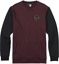 Analog Enclave Crew Snowboard Pullover/Sweatshirt, Deep Purple