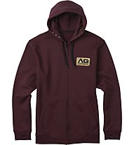 Analog Mobilize Full Zip Hoodie Giacca con Cappuccio Snowboard, Deep Purple