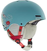 Anon Rime - casco sci - bambino, Light Blue/Red
