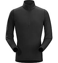 Arc Teryx Phase AR Zip Neck - Pullover - uomo, Black