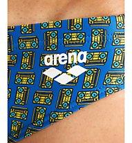 Arena M Fundamentals Allover Brief - Badehose - Herren, Blue/Yellow