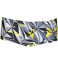 Arena One Shattered Low Waist Short - Badehose - Herren, Grey/Yellow