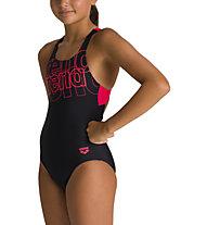Arena Spotlight Jr Swim Pro Back - Badeanzug - Mädchen, Black/Red