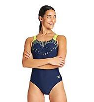 Arena W Trick Swim Pro Back - Badeanzug - Damen, Blue/Yellow