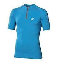 Asics Inner Muscle 1/2 Zip Top Runningshirt, Atlantic Blue