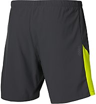 Asics 2-N-1 7in Short Pantaloni corti fitness, Black/Yellow