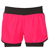 Asics 2in1 Short W - Kurze Trainingshose - Damen, Pink