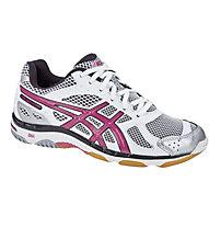 Asics Gel- Beyond W - scarpe da ginnastica pallavolo - donna, White/Pink/Silver