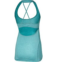 Asics Crossback Tank Damen Fitness Top, Light Blue