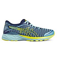 Asics Dyna Flyte W - scarpa running donna, Light Blue/Yellow