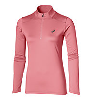 Asics Ess Winter 1/2 Zip - maglia running donna, Rose