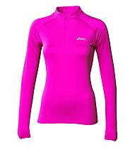 Asics Essential Winter 1/2 Zip maglia running donna, Pink Glow