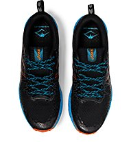 Asics FujiTrabuco Lyte - scarpe trail running - uomo, Black/Light Blue/Orange