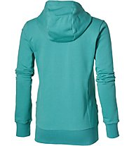 Asics Fz Knit Hoodie Giacca con cappuccio fitness donna, Light Blue