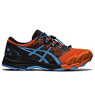 Asics GEL-FujiTrabuco SKY - scarpe trail running - uomo, Black/Orange/Light Blue