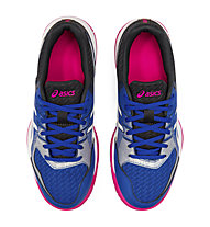 Asics Gel-Rocket 9 - Gymnastikschuh, Blue/White/Fucsia