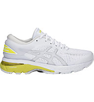 Asics GEL-Kayano 25 W - scarpe running stabili - donna, White/Yellow
