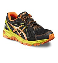 Asics Gel Stormplay GS G-TX - scarpa trail running bambino, Black/Orange
