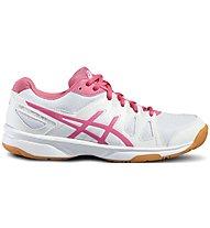 Asics Gel Upcourt - Scarpa da ginnastica pallavolo - donna, White/Pink