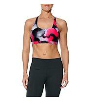 Asics Racerback - Sport-BH - Damen, Grey/Pink/Black