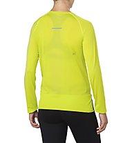 Asics Seamless LS W - maglia running a maniche lunghe - donna, Yellow