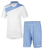 Asics Set Win M/C completo da calcio, Blue/White