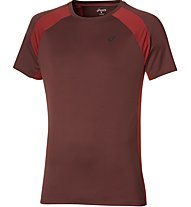 Asics Short Sleeve Tech Top T-Shirt Fitness, Red