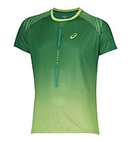 Asics SS Top 1 - Maglia Running, Green/Light Green