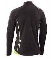 Asics Sweat Javier maglia running donna, Black/Light Green